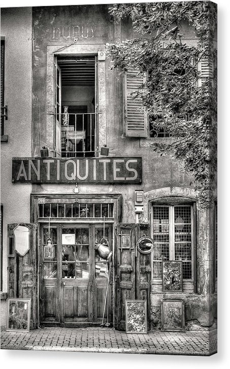 Antique Store Facade - Canvas Print from Wallasso - The Wall Art Superstore