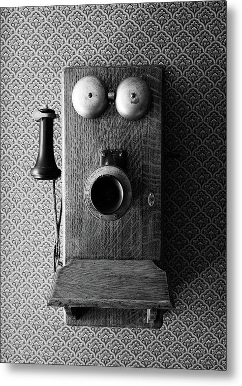 Antique Telephone - Metal Print from Wallasso - The Wall Art Superstore