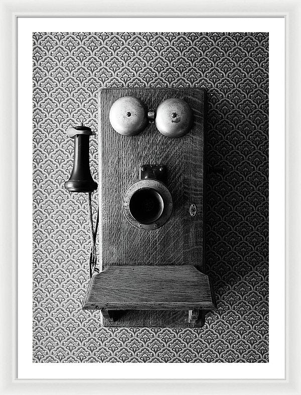 Antique Telephone - Framed Print from Wallasso - The Wall Art Superstore