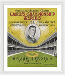 Antique World Series Score Card, 1911 - Framed Print from Wallasso - The Wall Art Superstore