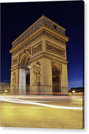 Arc De Triomphe At Night In Paris - Acrylic Print from Wallasso - The Wall Art Superstore