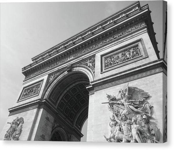 Arc De Triomphe Closeup - Canvas Print from Wallasso - The Wall Art Superstore