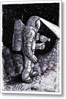 Astronaut Explorer Sketch - Metal Print from Wallasso - The Wall Art Superstore