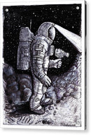 Astronaut Explorer Sketch - Acrylic Print from Wallasso - The Wall Art Superstore