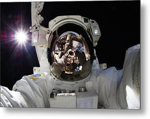 Astronaut Selfie - Metal Print from Wallasso - The Wall Art Superstore