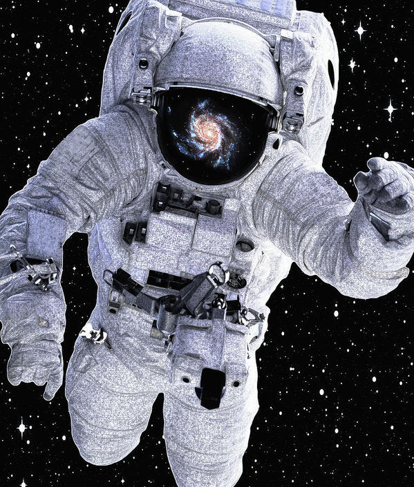 Astronaut With Galaxy Reflected In Helmet - Art Print from Wallasso - The Wall Art Superstore