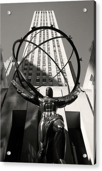 Atlas Statue In Rockefeller Center, New York City - Acrylic Print from Wallasso - The Wall Art Superstore