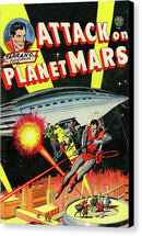 Attack On Planet Mars, Vintage Comic Book - Canvas Print from Wallasso - The Wall Art Superstore