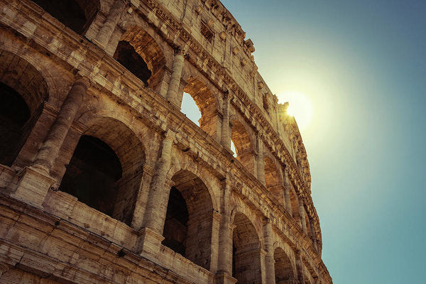 Backlit Colosseum Amphitheater In Rome - Art Print from Wallasso - The Wall Art Superstore
