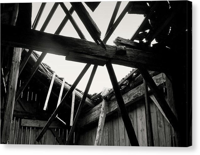 Barn Roof Collapsing - Canvas Print from Wallasso - The Wall Art Superstore