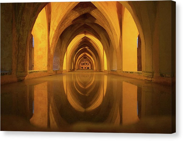 Baths of Maria De Padilla In Alcazar, Seville, Spain - Canvas Print from Wallasso - The Wall Art Superstore