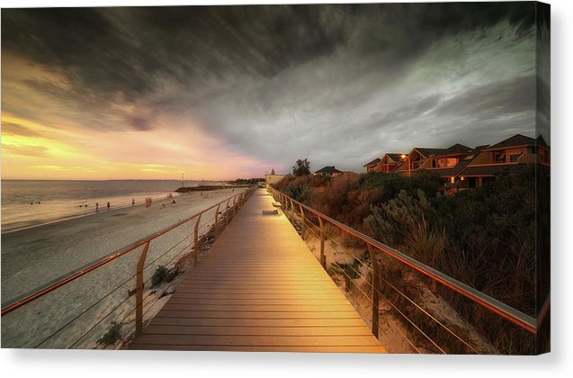 Beachside Boardwalk - Canvas Print from Wallasso - The Wall Art Superstore