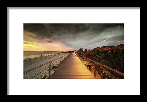 Beachside Boardwalk - Framed Print from Wallasso - The Wall Art Superstore