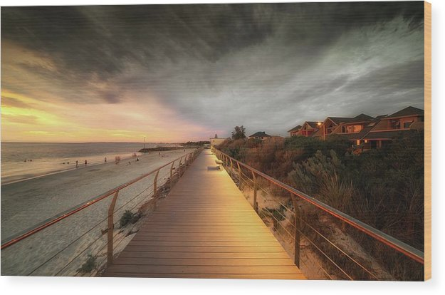Beachside Boardwalk - Wood Print from Wallasso - The Wall Art Superstore