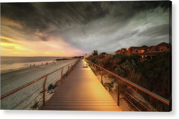 Beachside Boardwalk - Acrylic Print from Wallasso - The Wall Art Superstore