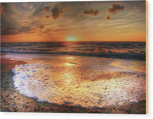 Beautiful Beach Sunset - Wood Print from Wallasso - The Wall Art Superstore