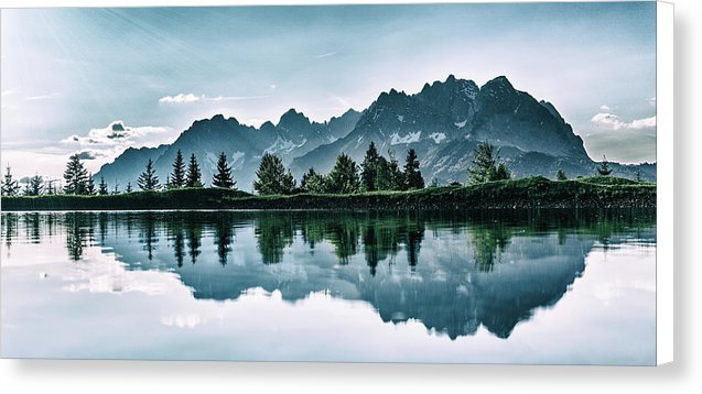 Beautiful Mountain Reflected In Lake - Canvas Print from Wallasso - The Wall Art Superstore