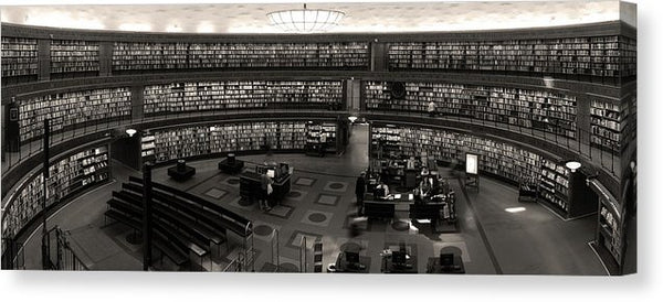 Beautiful Oval Library Panoramic - Canvas Print from Wallasso - The Wall Art Superstore