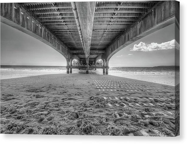 Beautiful Shadow and Texture Under A Pier - Canvas Print from Wallasso - The Wall Art Superstore