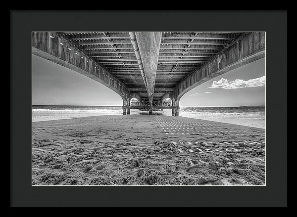 Beautiful Shadow and Texture Under A Pier - Framed Print from Wallasso - The Wall Art Superstore