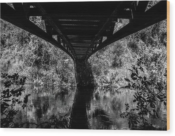 Below A Rural Bridge - Wood Print from Wallasso - The Wall Art Superstore