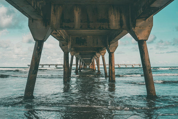 Beneath Pier - Art Print from Wallasso - The Wall Art Superstore
