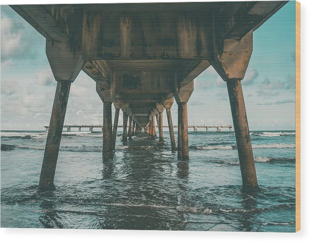 Beneath Pier - Wood Print from Wallasso - The Wall Art Superstore