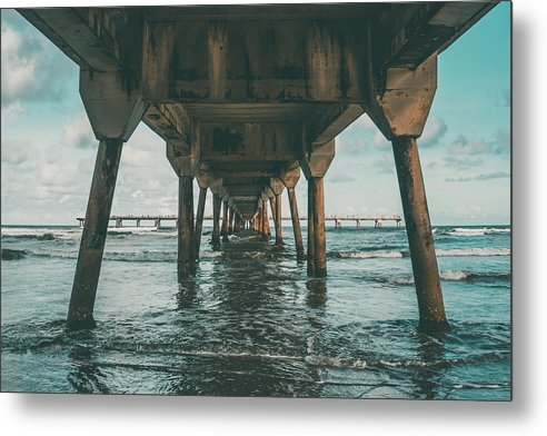 Beneath Pier - Metal Print from Wallasso - The Wall Art Superstore