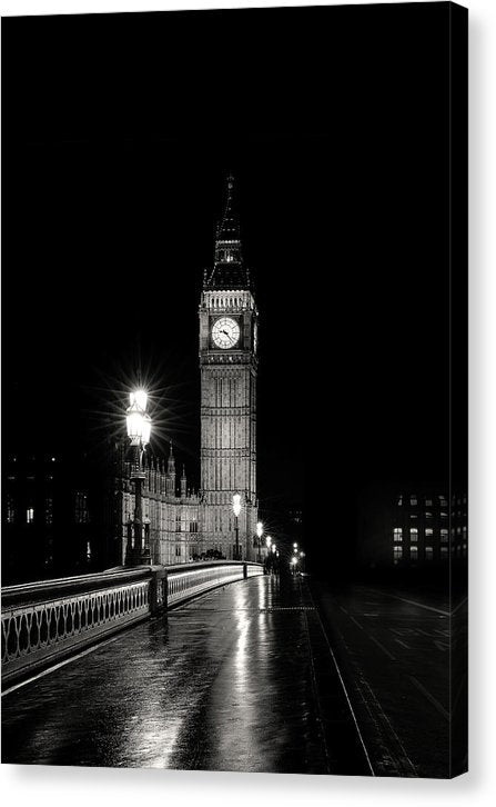 Big Ben At Night - Canvas Print from Wallasso - The Wall Art Superstore