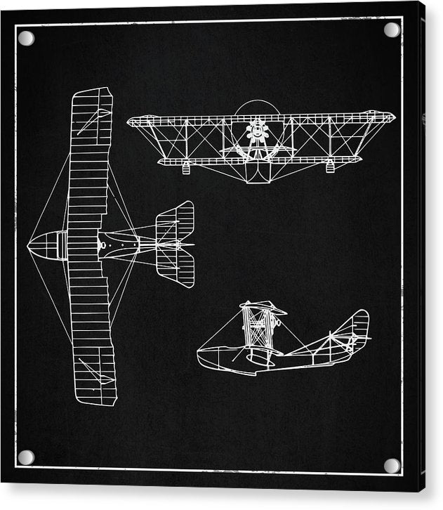 Biplane Design - Acrylic Print from Wallasso - The Wall Art Superstore
