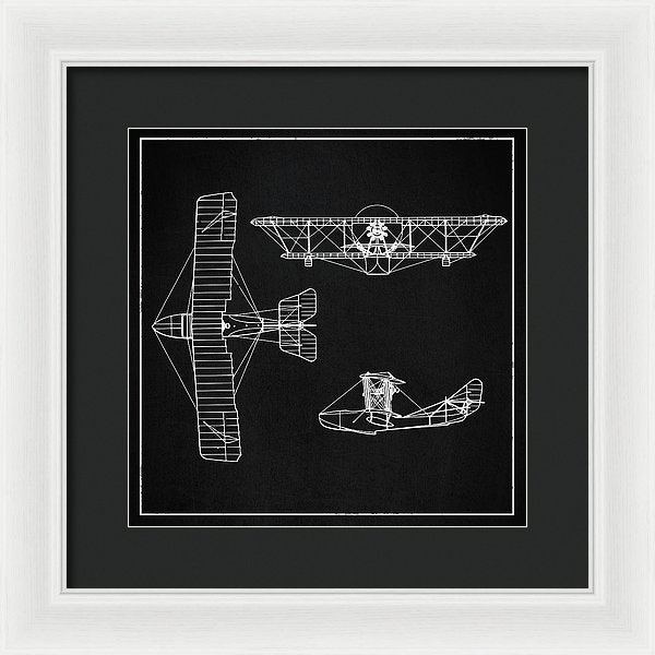 Biplane Design - Framed Print from Wallasso - The Wall Art Superstore