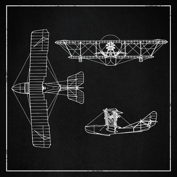 Biplane Design - Art Print from Wallasso - The Wall Art Superstore