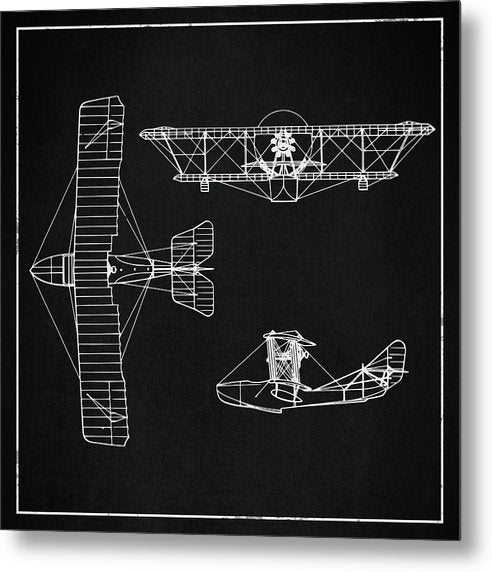 Biplane Design - Metal Print from Wallasso - The Wall Art Superstore