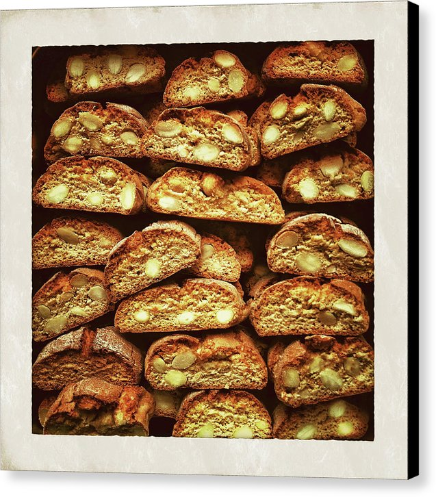 Biscotti In Coffee Shop - Canvas Print from Wallasso - The Wall Art Superstore