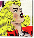 Blonde Woman Vintage Comic Book Panel - Canvas Print from Wallasso - The Wall Art Superstore
