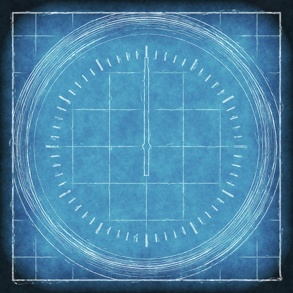 Blueprint Compass - Art Print from Wallasso - The Wall Art Superstore