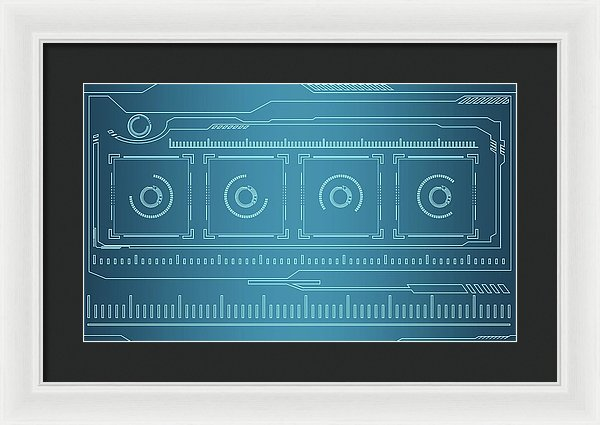 Blueprint Design - Framed Print from Wallasso - The Wall Art Superstore