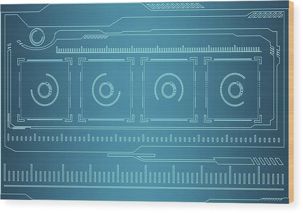 Blueprint Design - Wood Print from Wallasso - The Wall Art Superstore