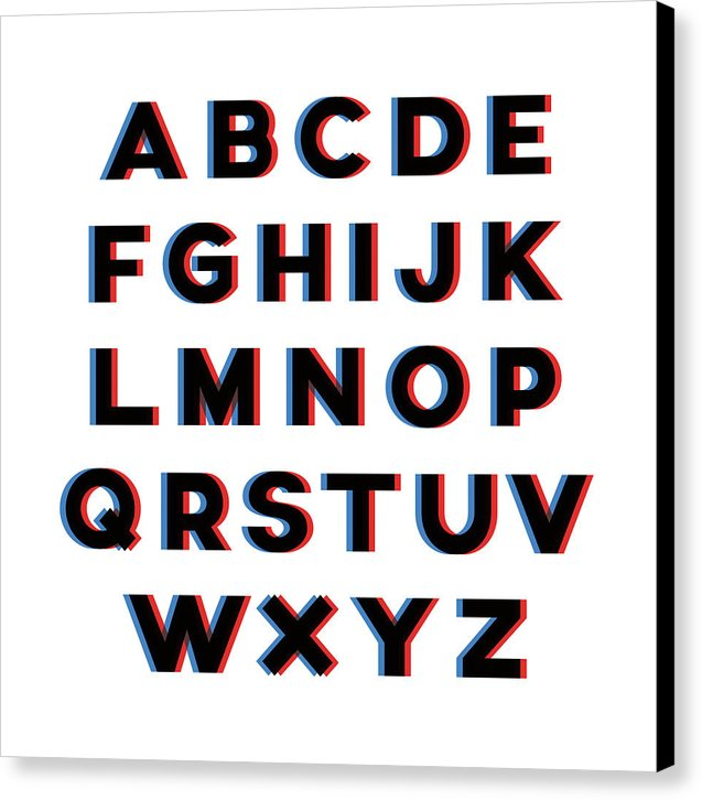 Blurry Eye Exam Alphabet Lettering - Canvas Print from Wallasso - The Wall Art Superstore