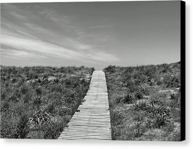 Boardwalk Going Over A Hill - Canvas Print from Wallasso - The Wall Art Superstore