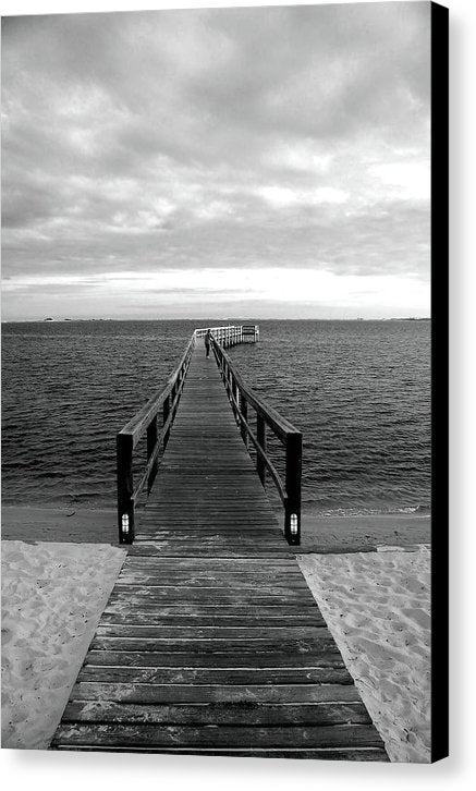Boardwalk Leading Out To Water - Canvas Print from Wallasso - The Wall Art Superstore
