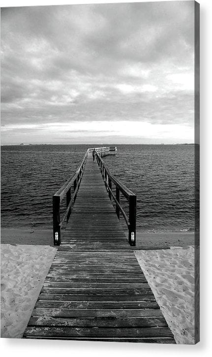 Boardwalk Leading Out To Water - Acrylic Print from Wallasso - The Wall Art Superstore