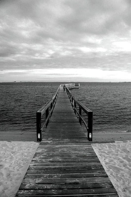 Boardwalk Leading Out To Water - Art Print from Wallasso - The Wall Art Superstore
