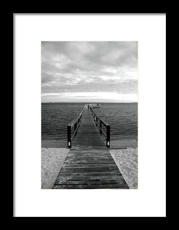 Boardwalk Leading Out To Water - Framed Print from Wallasso - The Wall Art Superstore