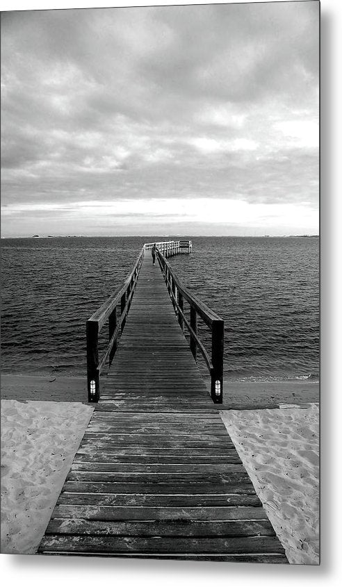Boardwalk Leading Out To Water - Metal Print from Wallasso - The Wall Art Superstore