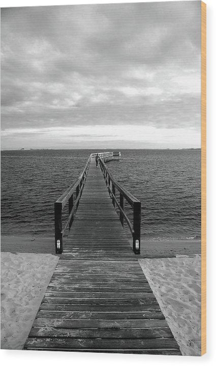 Boardwalk Leading Out To Water - Wood Print from Wallasso - The Wall Art Superstore