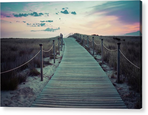 Boardwalk Under Rainbow Colored Sky - Acrylic Print from Wallasso - The Wall Art Superstore