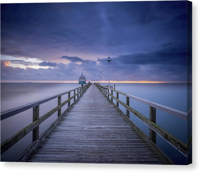Boardwalk With Purple Sky - Canvas Print from Wallasso - The Wall Art Superstore