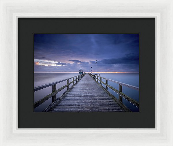 Boardwalk With Purple Sky - Framed Print from Wallasso - The Wall Art Superstore