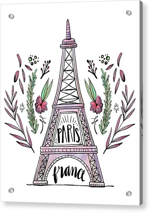 Boho Eiffel Tower - Acrylic Print from Wallasso - The Wall Art Superstore